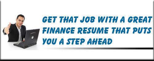 Finance Resume Service